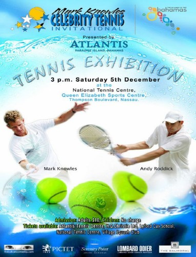 Tickets are now on sale for the 9th Annual Mark Knowles Celebrity Tennis Invitational ...